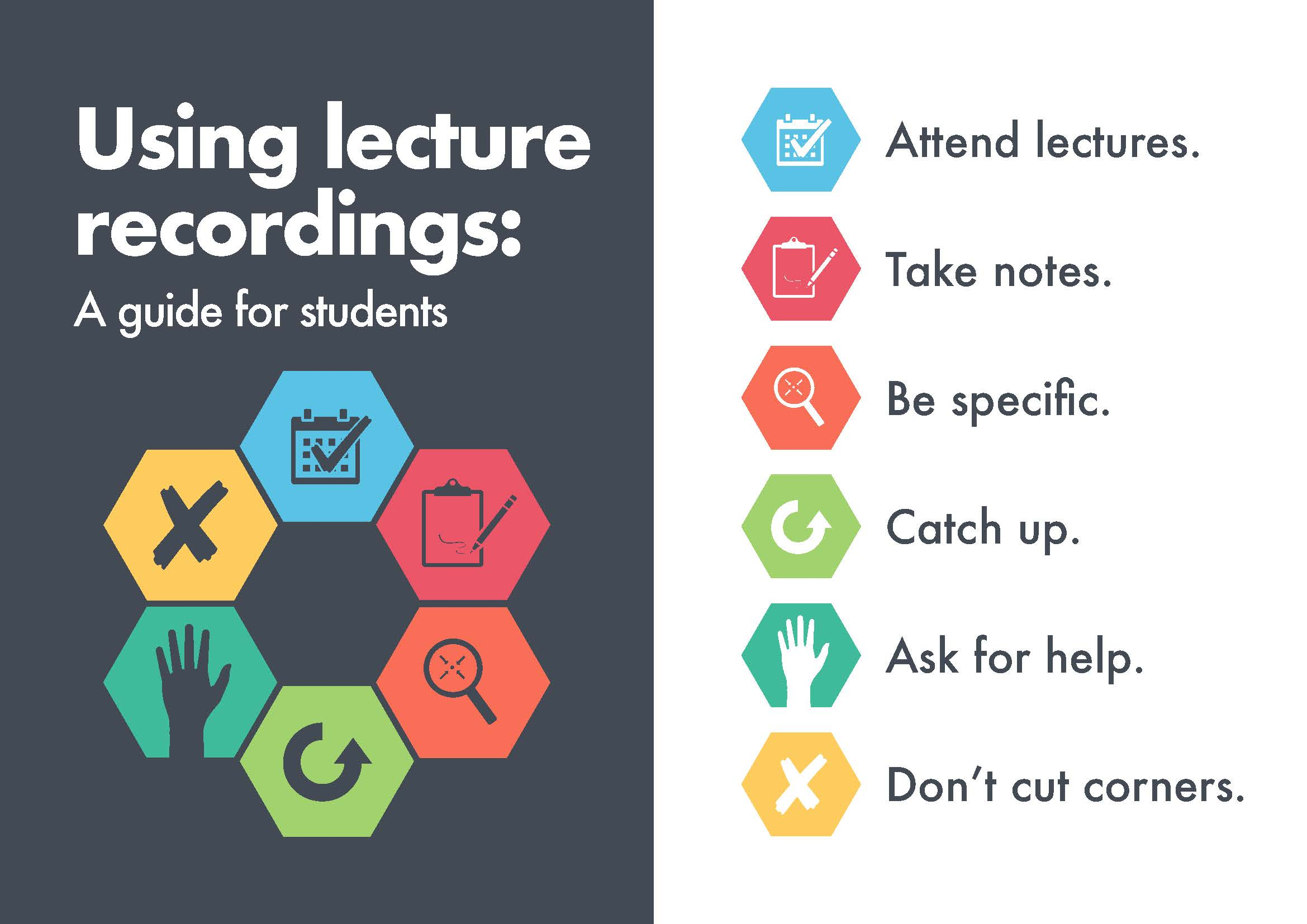 Using Lecture recording - a guide for students